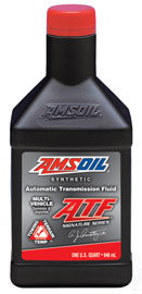 Bottle Of Amsoil Synthetic ATF Transmission Fluid